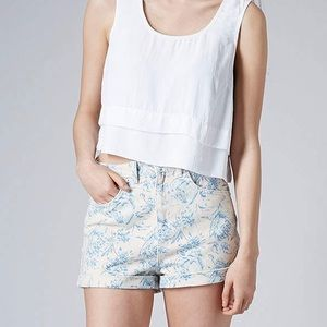 Top shop High Waisted Floral Shorts